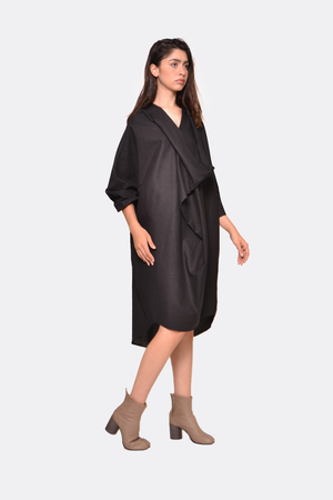 Linen Poncho Dress