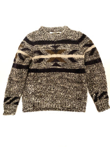 Isabel Marant sweater, grey, wool and alpaga, with black and brown pattern