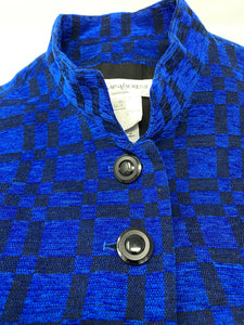 ysl jacket, vintage, blue check with buttons, size medium.