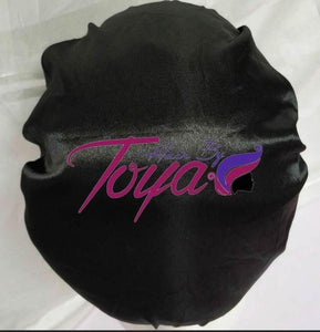 Layed & Slayed Satin Bonnet-Black