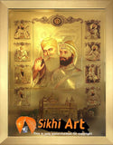 10 Sikh Gurus And Guru Granth Sahib In Harmandir Sahib In Size - 22 X 16