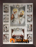 10 Sikh Gurus With Guru Granth Sahib Ji In Size - 23 X 18