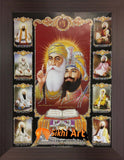 Sikh Gurus Picture Frame In Size - 12 X 8