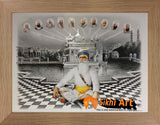 Sikh Gurus Picture Frame In Golden Temple In Size - 12 X 9
