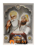 Guru Nanak Dev Ji And Guru Gobind Singh Ji With Guru Granth Sahib Ji In Size - 16 X 12