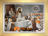 Bhagat Ravidas Ji Photo Picture Framed - 23 X 18