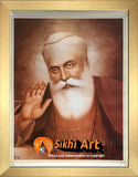 First Guru Nanak Dev Ji Picture In Sepia In Size - 18 X 14
