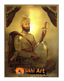 Guru Gobind Singh Ji Original Print Photo Picture Framed - 22 X 16