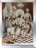 Guru Gobind Singh Ji With Family Picture Frame In Size - 12 X 9