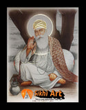 Guru Nanak Dev Ji Original Print Photo Picture Framed - 23 X 18