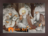 Guru Nanak With Bhai Bala And Bhai Mardana In Size - 16 X 12