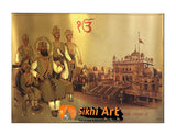 Guru Gobind Singh Ji And Chaar Sahibzaade In Harmandir Sahib In Size - 22 X 16