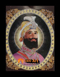 Guru Gobind Singh Ji Small Picture Frame Photo with frame 2 in Size - 7 x 5
