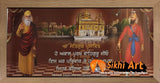 Guru Nanak Dev Ji And Guru Gobind Singh Ji In Golden Temple With Blessing In Size - 28 X 12