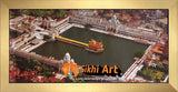 Harmandir Sahib Golden Temple Amritsar Punjab India Photo Picture Framed - 18 X 8