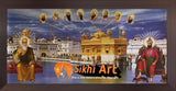 Harmandir Sahib Golden Temple Amritsar Punjab India With Sikh Gurus In Size - 28 X 13