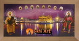 Harmandir Sahib Golden Temple Amritsar Punjab India With Sikh Gurus 2 In Size - 28 X 13