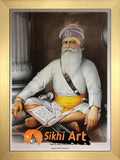 Large Baba Deep Singh Ji Picture Frame In Size - 40 X 28