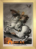 Large Guru Gobind Singh Ji On Horse Picture Frame In Size - 40 X 28