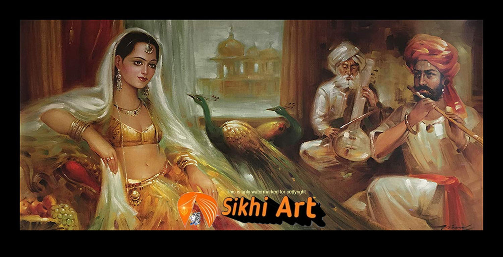 Punjabi Art Of Punjabi Culture In Size - 40 X 20