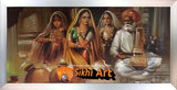 Punjabi Virsa Art Of Punjab 3  In Size - 40 X 20