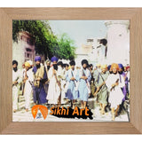 Sant Jarnail Singh Bhindranwale Fighting For Faith And Nation Picture Frame 24 x 20