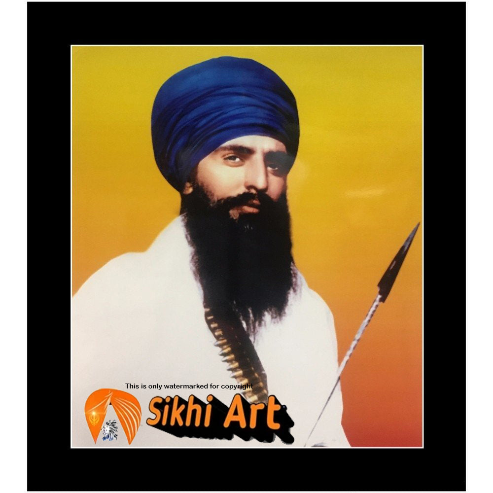 Sant Jarnail Singh Bhindranwale From Punjab Picture Frame 20 X 16