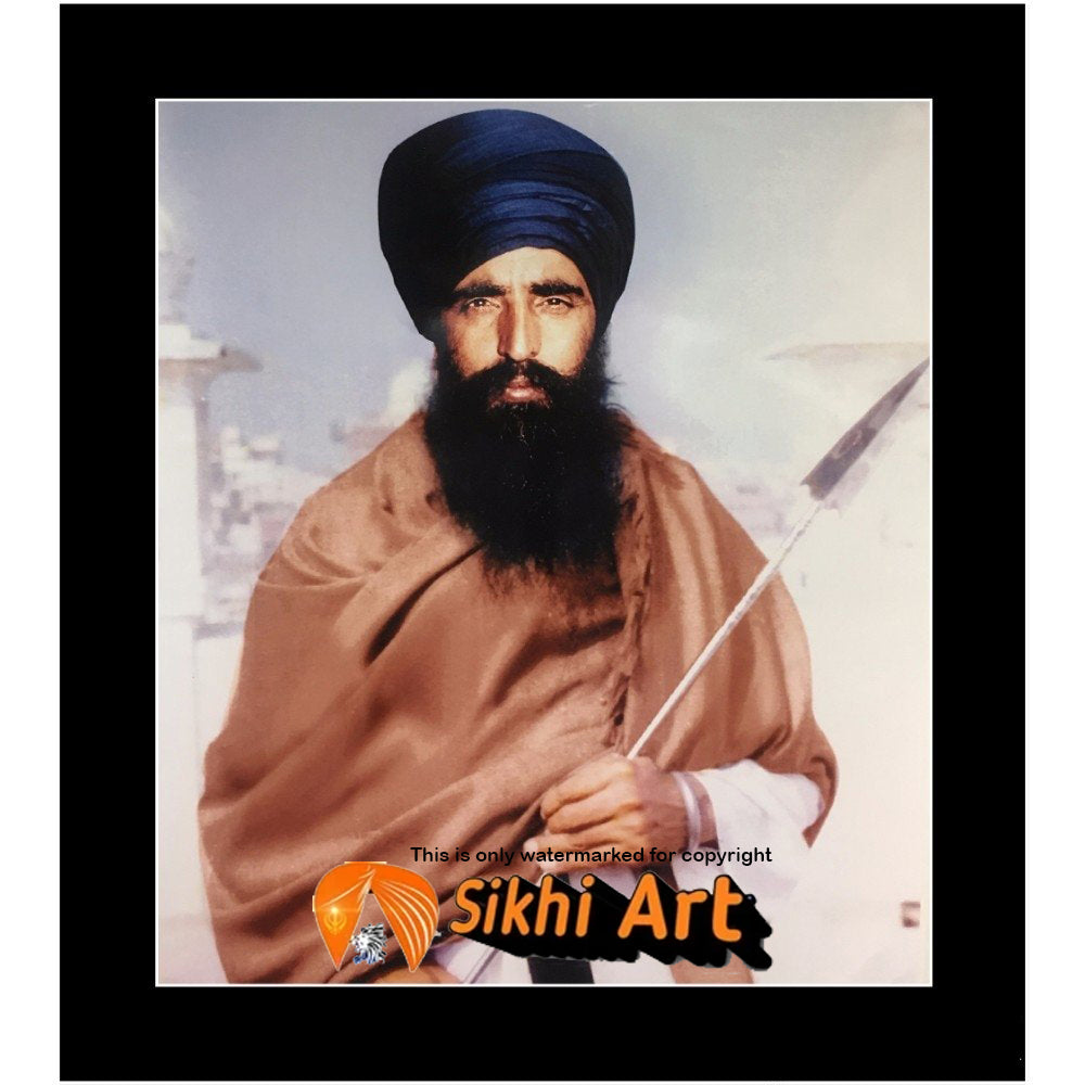 Sant Jarnail Singh Bhindranwale Picture Frame 36 X 24