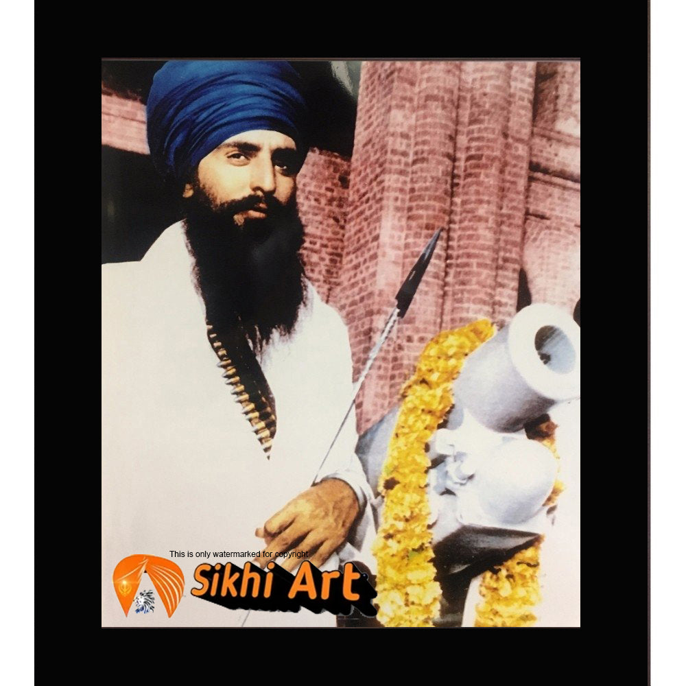 Sant Jarnail Singh Bhindranwale Public Appearance Picture Frame 10 X 8