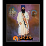 Sant Jarnail Singh Bhindranwale With Golden Temple Picture Frame 20 X 16