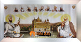 Sikh Gurus And Harmandir Sahib Golden Temple In Size - 28 X 13