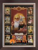 Sikh Gurus Of Sikhism Picture Frame Photo with frame in Size - 7 x 5