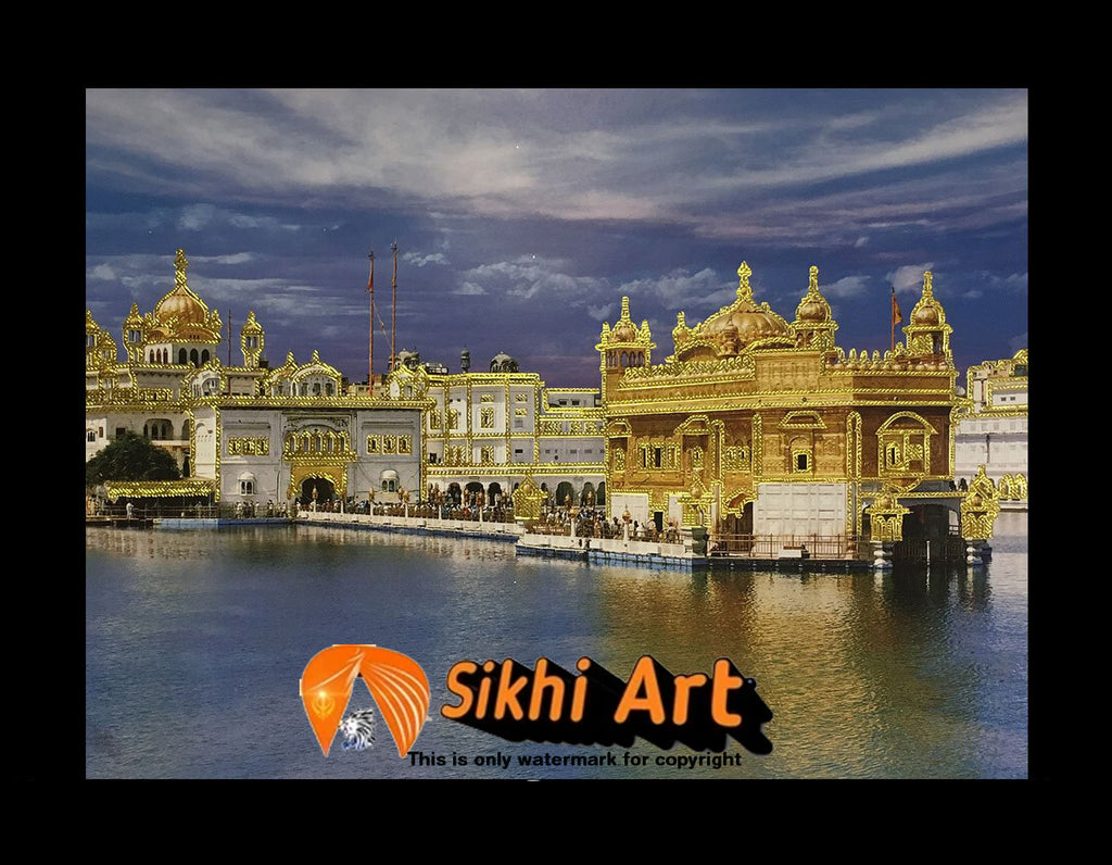 Sri Harmandir Sahib Golden Temple In Size - 12 x 9