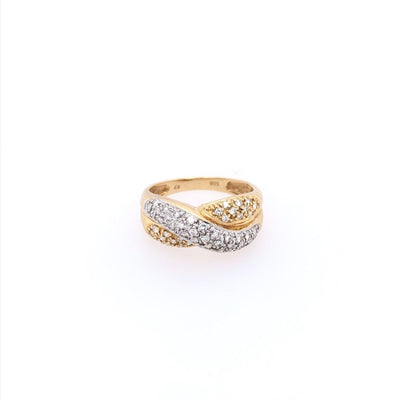 antiker-echtschmuck-antike-ringe-Ring Bicolor Gold 585 mit Brillanten-10864-Prejou