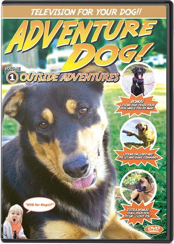 Adventure Dog DVD Volume 1: Outside Adventures - TV to Entertain Your Dog - Pet Media Plus