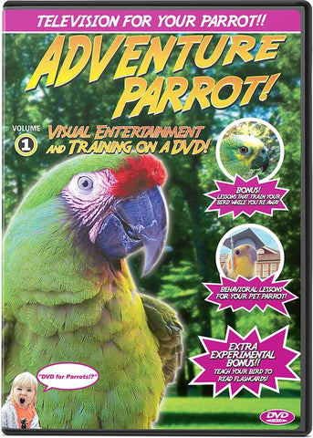 Adventure Parrot DVD Volume 1: Visual Training & Entertainment For Your Bird - Pet Media Plus