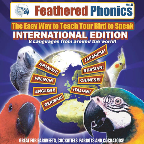 Feathered Phonics CD 5: The International Edition with 8 Languages! - Pet Media Plus