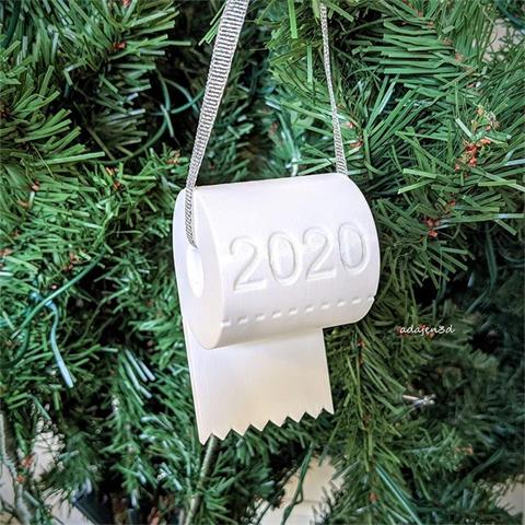 2020 Personalized Christmas Family Ornament with Hanging