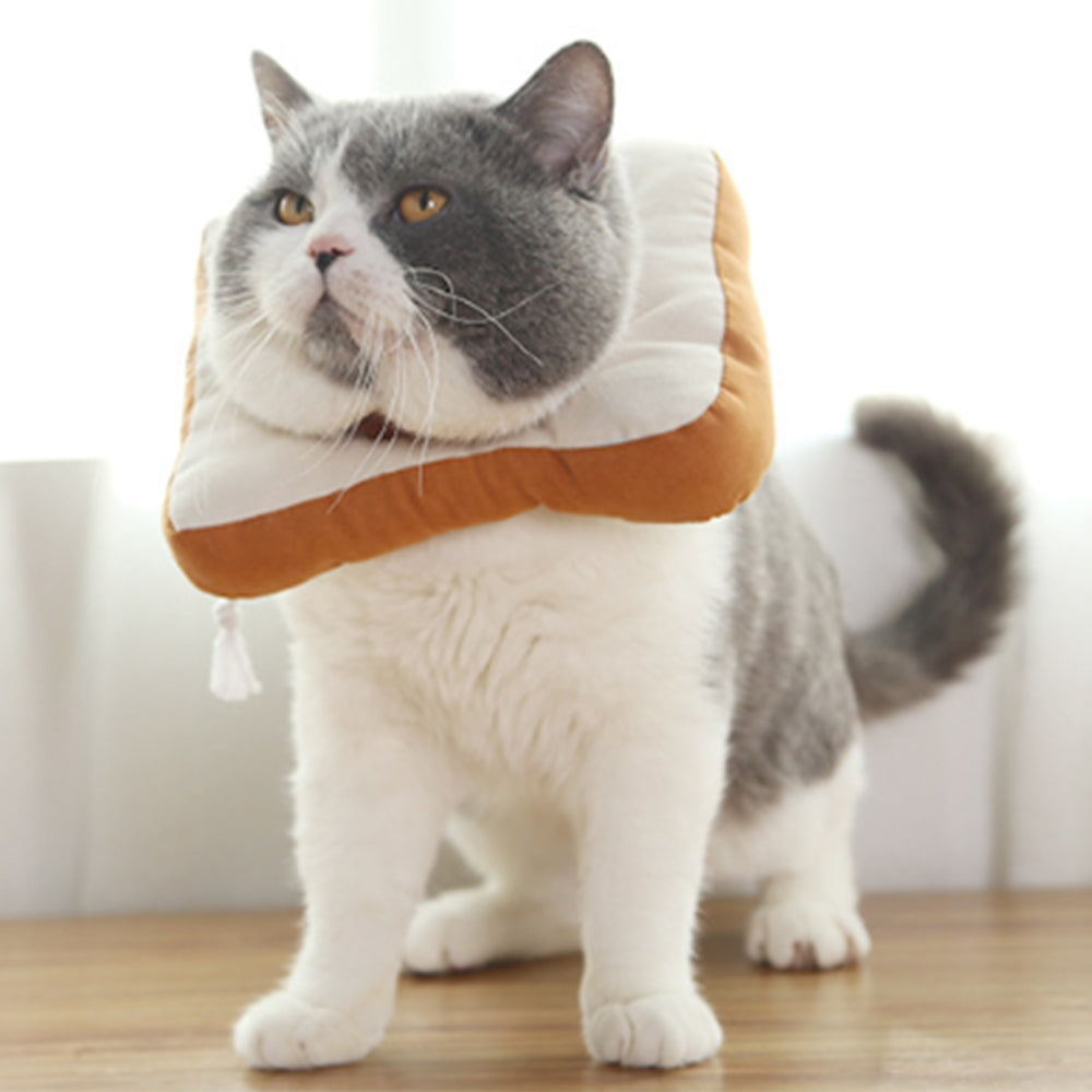 Adjustable Bread Toast Cat Cone Collar Recovery Cone Elizabethan Protection Ring