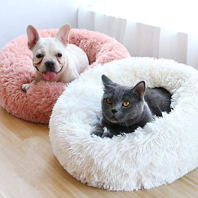 Soft Round Plush Cat Dog Bed