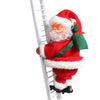Santa Claus Climbing A Ladder Christmas Tree Decorations