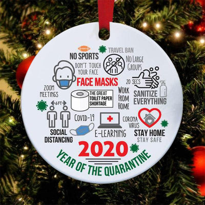 2020 Christmas Tree Pendant Double-sided Annual Events Ornament