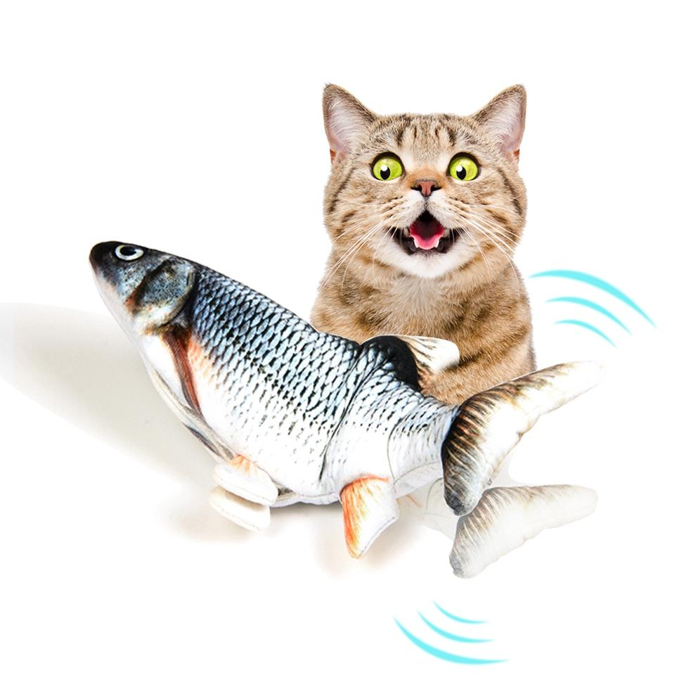 Real-looking Moving Fish Cat Toy, Wags Automatically Cats Toy