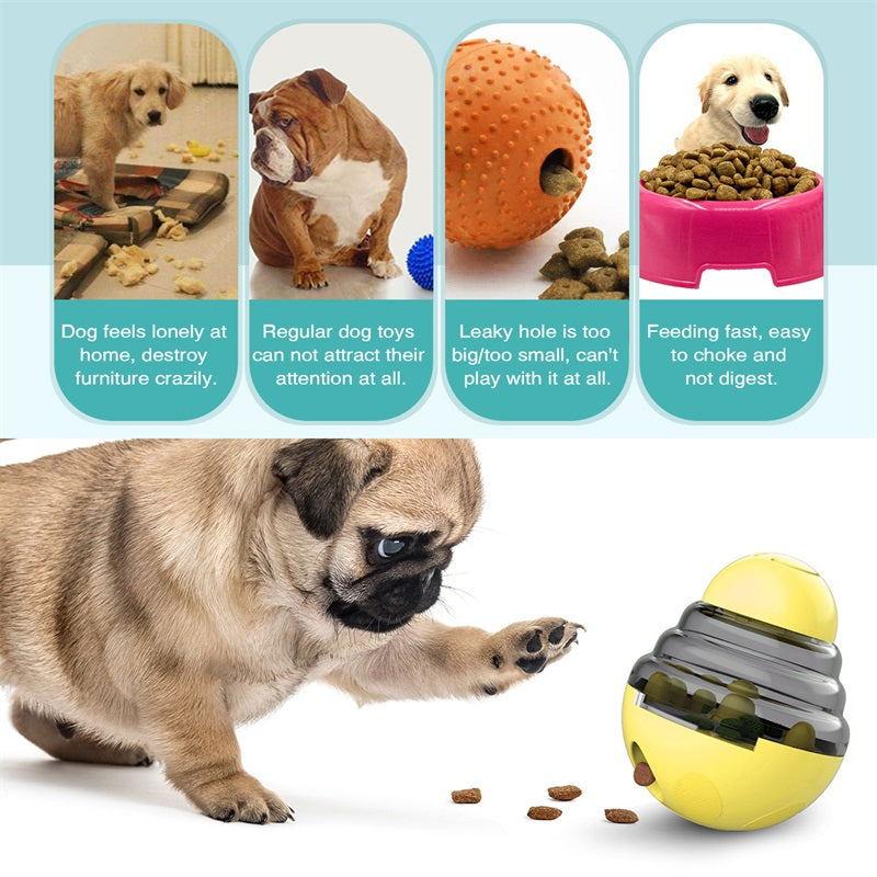 Dog Leakage Food Toy Pets IQ Treat-Dispensing Ball Toys