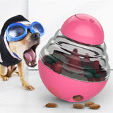 Pink Dog Treat Toys Pets IQ Treat-Dispensing Ball Toys Adjustable Leaky Holes