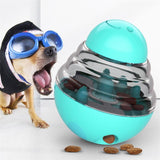 Mint Blue Dog Treat Toys Pets IQ Treat-Dispensing Ball Toys Adjustable Leaky Holes