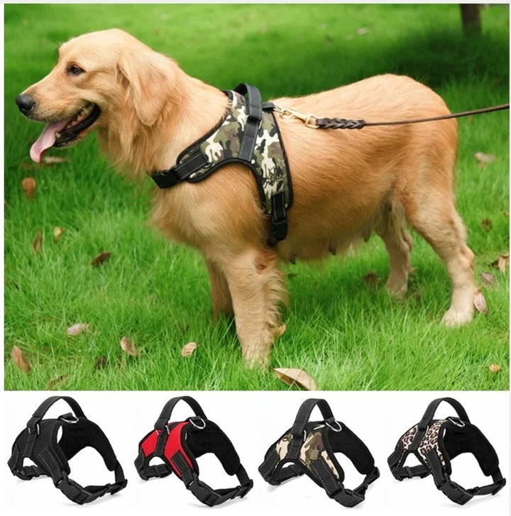 Breathable Heavy Duty Dog Harness Saddle Harness Belt Collar