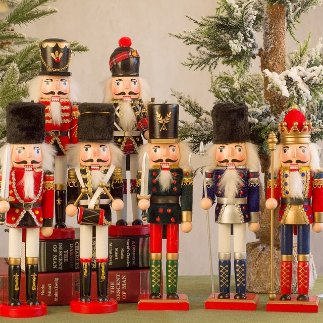 12 inches Christmas Wooden Large Nutcracker Soldier Minifigures Gift