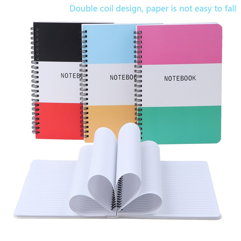 Oppaxf™ 4 Packs Students Hardcover Journal Spiral Notebook A5 with 80 Sheets White Paper