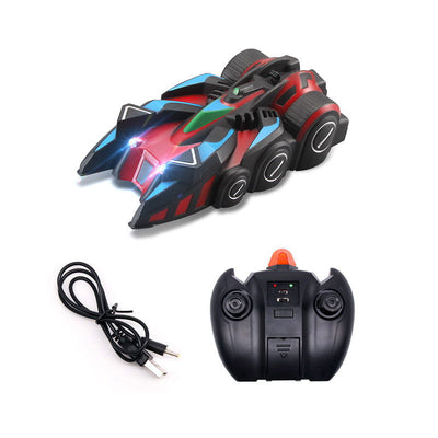 Black Red Anti-Gravity Wall Climbing Remote Control Car | Kids Toys